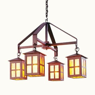 Steel Partners Old Faithful 4-Light Shaded Chandelier