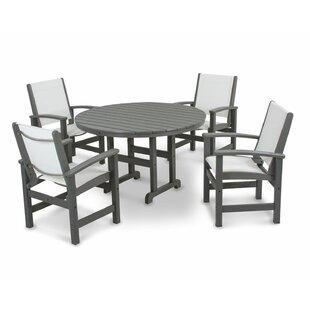 POLYWOOD® Coastal 5-Piece Dining Set