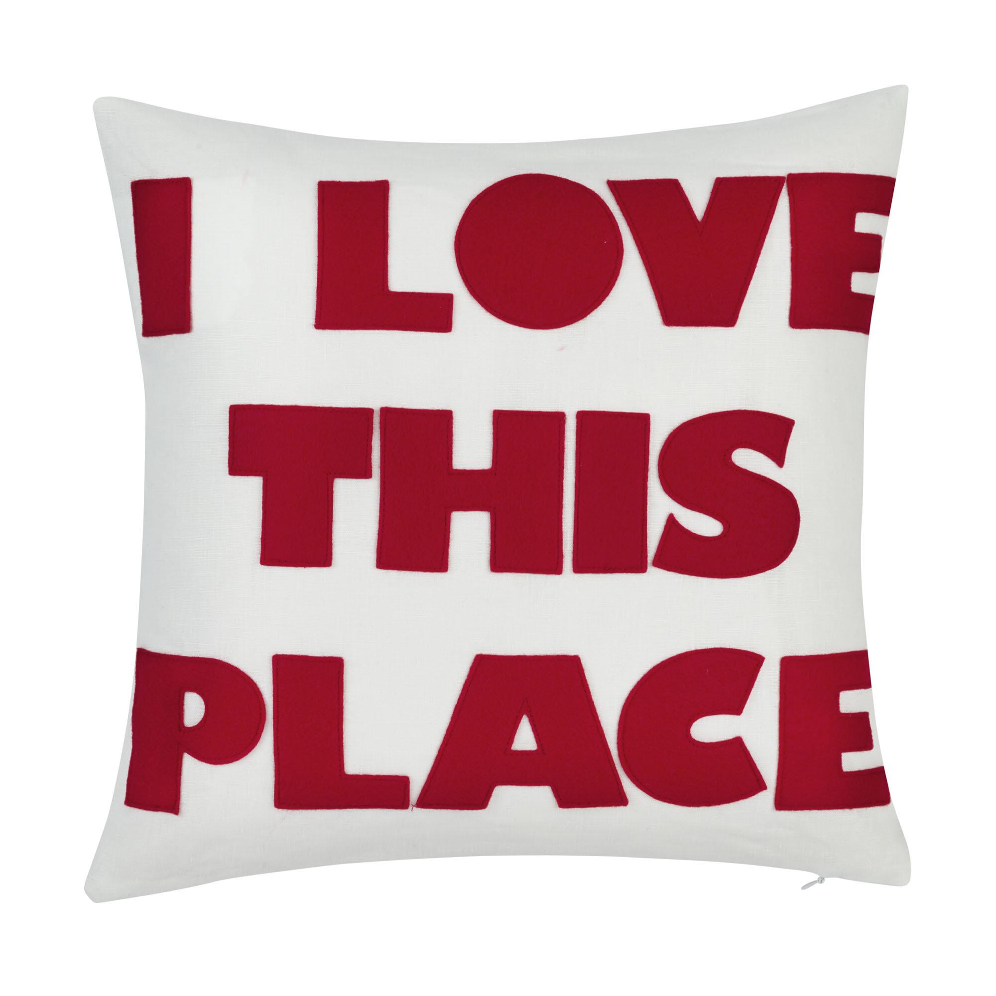 Alexandra Ferguson I Love This Place Linen 16 Throw Pillow Wayfair