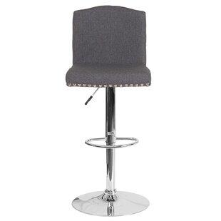 Prasad Adjustable Height Swivel Bar Stool by Winston Porter