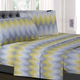 Birus Chevron Microfiber Sheet Set