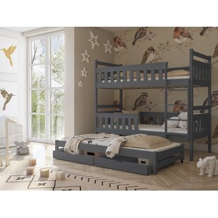 Betsy Single (3') Triple Sleeper Bunk Bed With Trundle By Harriet Bee