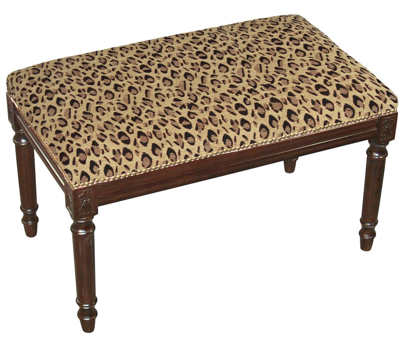 aika halpaa kuuluisa merkki miten ostaa Leopard Wood Bench