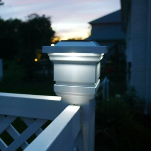 Solar Classy 1-Light LED Fence Post Cap
