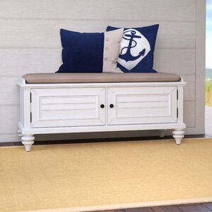 harrison upholstered storage entryway bench