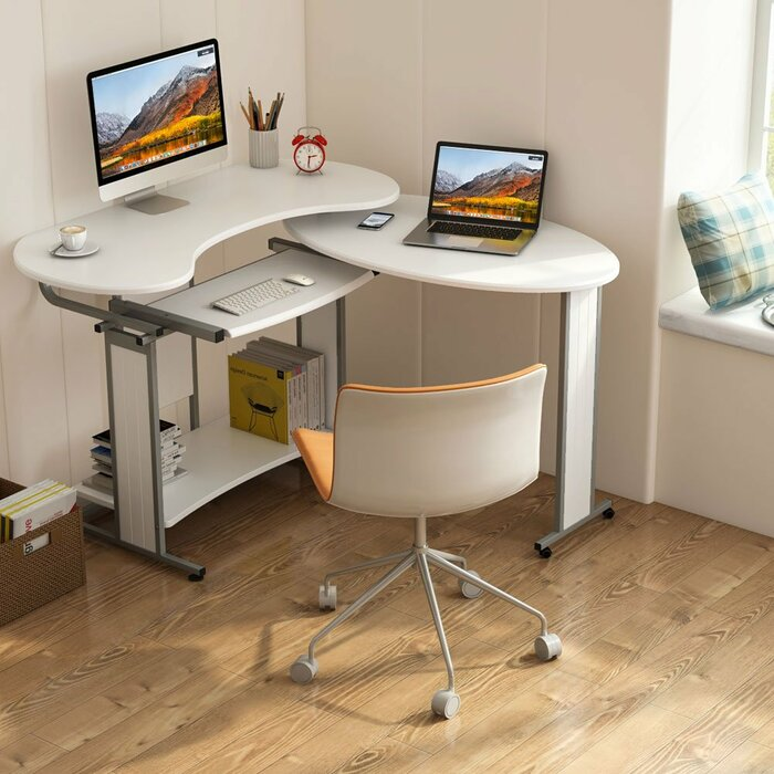 Heatherly Rotating Reversible L Shaped Computer Desk