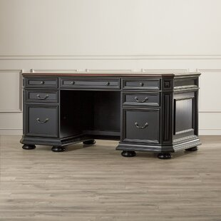 Darby Home Co Stina Executive Desk with 3 Drawers