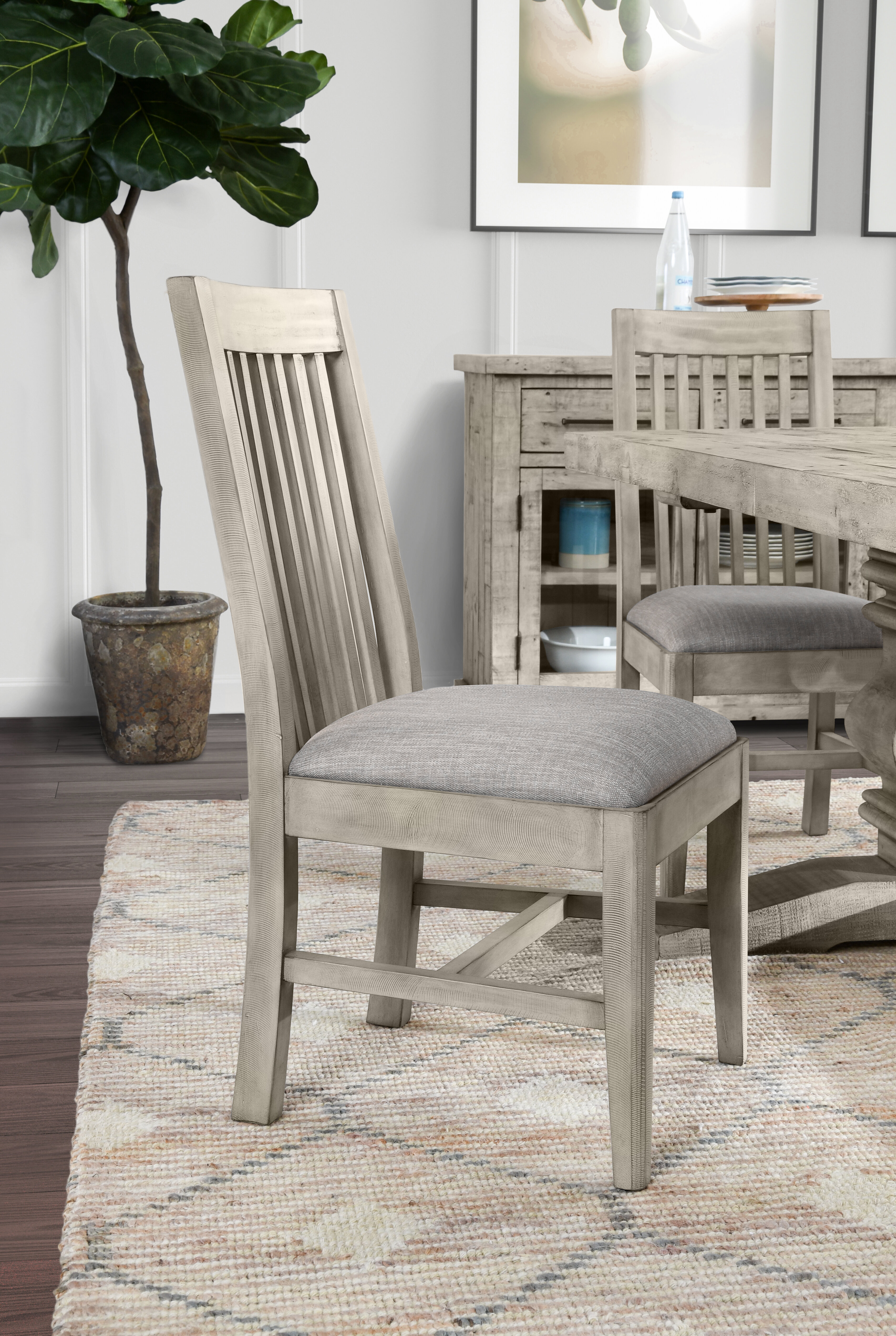 Farmhouse Rustic Slat Back Dining Chairs Birch Lane