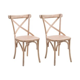 Latour Cross Solid Wood Dining Chair (Set Of 2) By August Grove