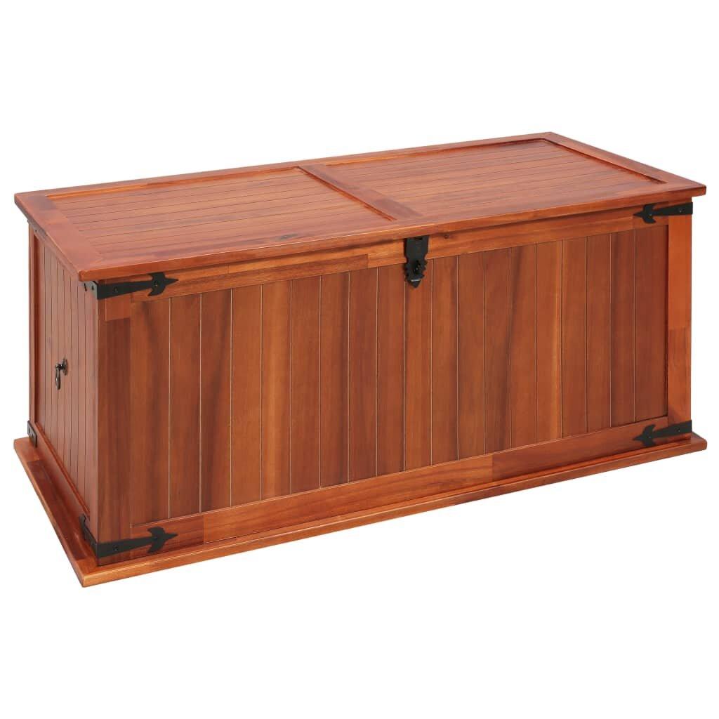 Millwood Pines Minick Solid Acacia Wood Toy Box Wayfair