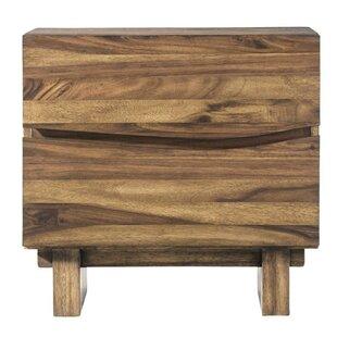 Williston Forge Omak Wooden 2 Drawer Nigh..