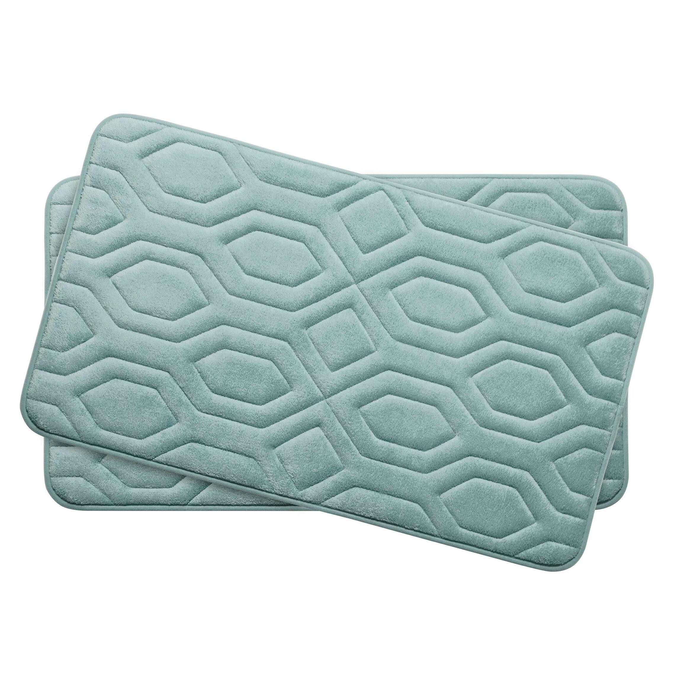Memory Foam Non Slip 2 Piece Bath Rug