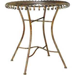 Overbey Round Metal End Table