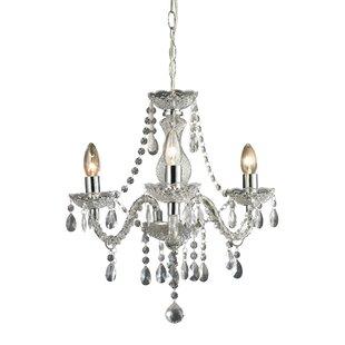 Cornelius 3 light crystal chandelier home cornelius 3 light crystal chandelier new aloadofball Images