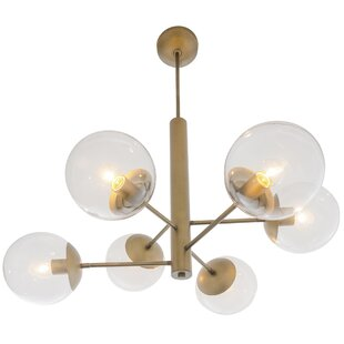 Corrigan Studio Citium Mid Century 6-Light Chandelier