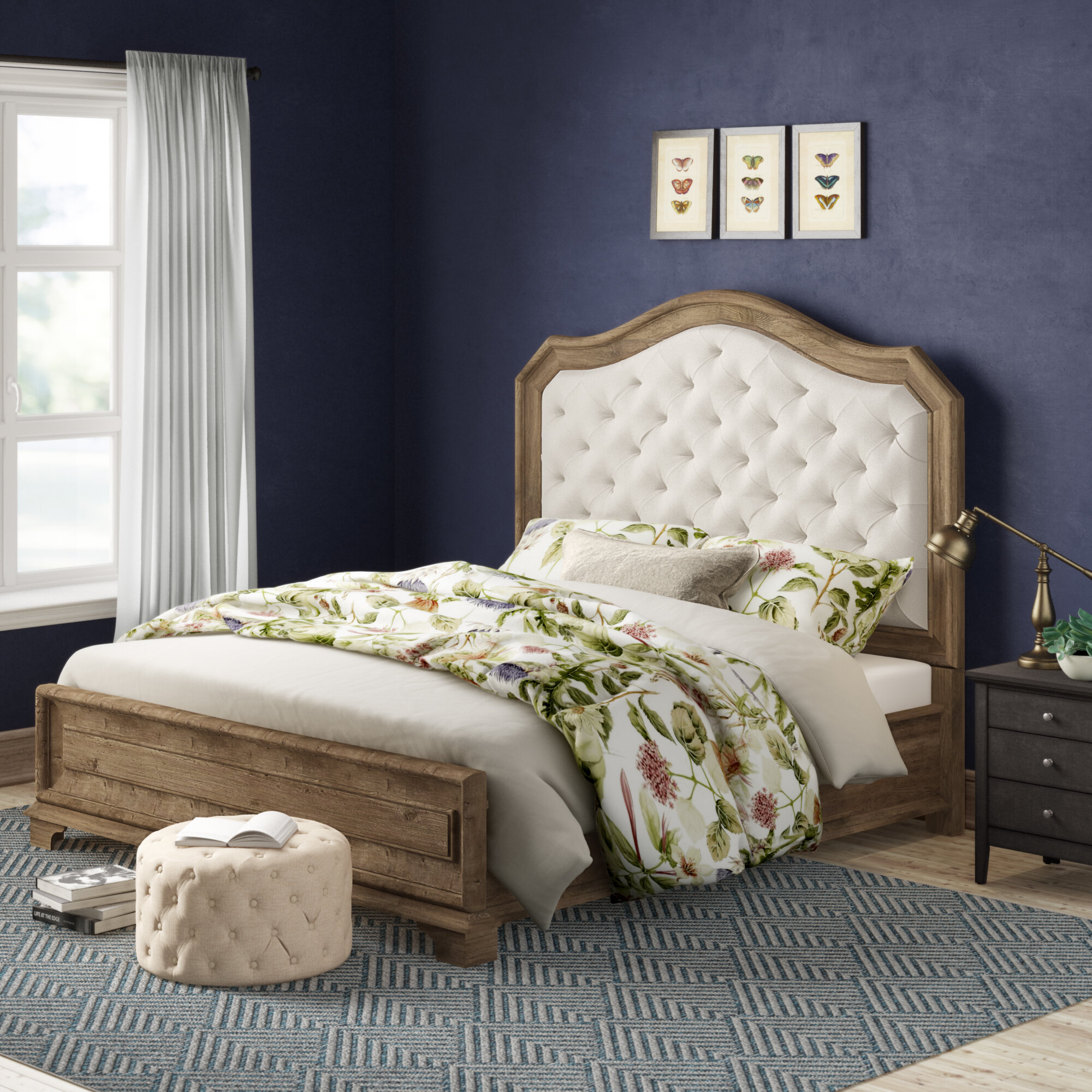 Pearse Upholstered Standard Bed Reviews Birch Lane