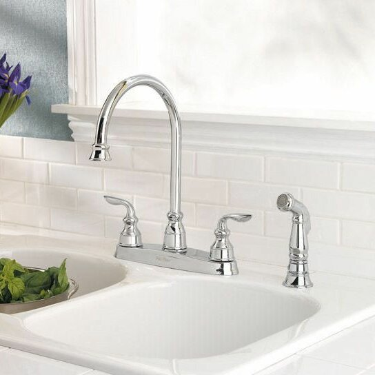 Miraculous Avalon Double Handle Kitchen Faucet With Side Spray Home Interior And Landscaping Oversignezvosmurscom