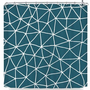 Pellerina Peacock Geometrics Modern Single Shower Curtain
