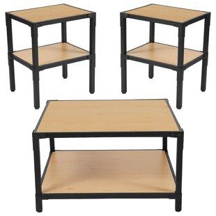 Ghazvini 3 Piece Coffee Table Set Winston Porter