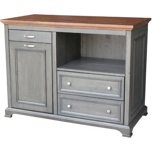 Bristol Kitchen Island with Wood Top by Just Cabinets Furniture and More