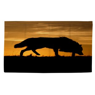 Comparison Wolf Silhouette Area Rug ByManual Woodworkers & Weavers