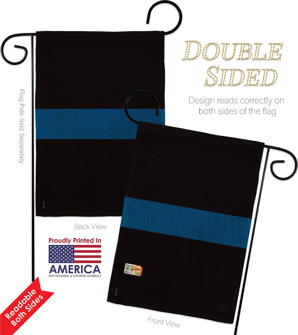 Breeze Decor Stripe 2 Sided Burlap 18 5 X 13 In Garden Flag Wayfair