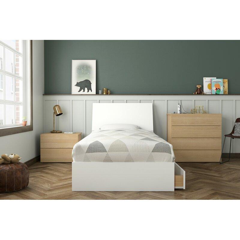5add45588538f1 Mack   Milo Carmelo Twin Platform 4 Piece Bedroom Set