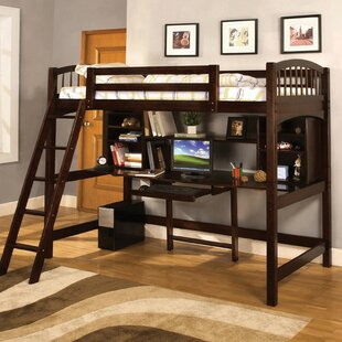 Cranston Twin Loft Bed with Bookcase