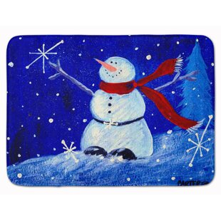 Snowman Happy Holidays Memory Foam Bath Rug