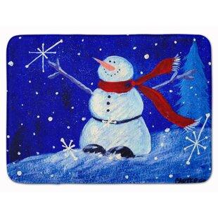 Snowman Happy Holidays Memory Foam Bath Rug