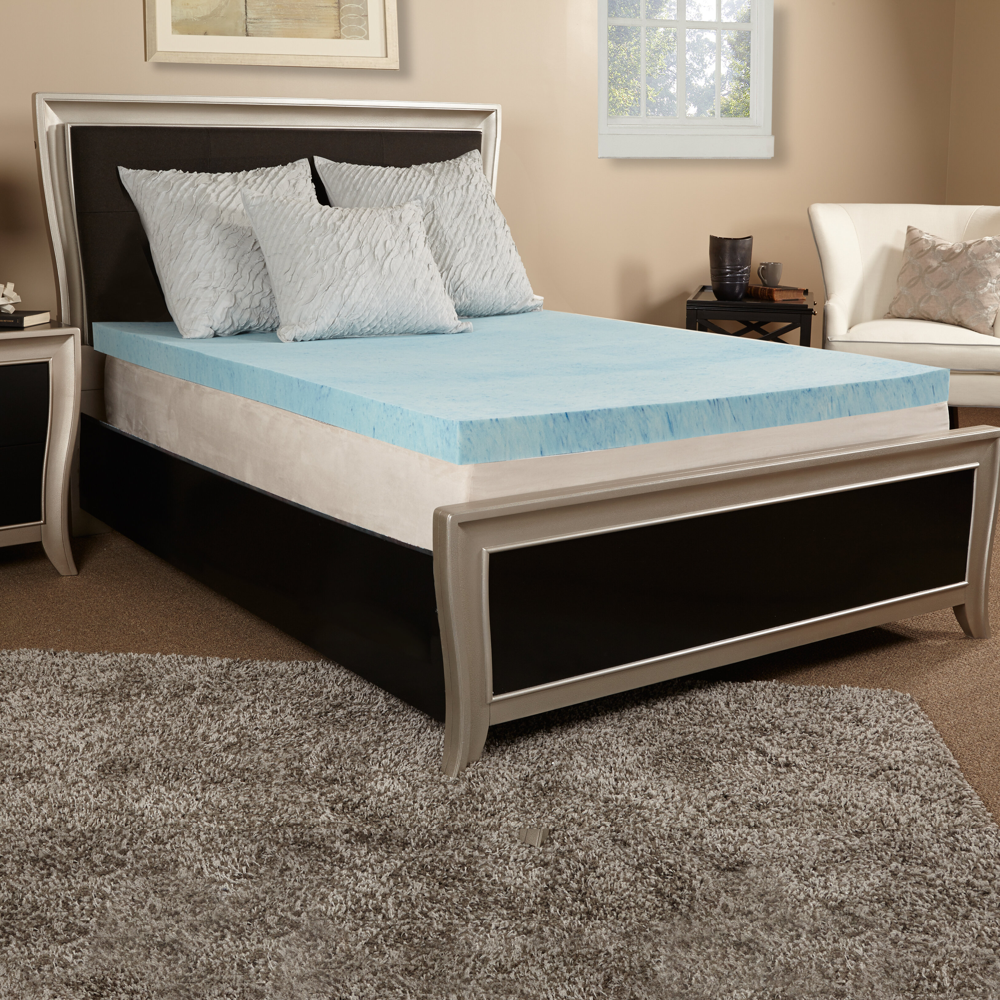 Luxury Solutions 4 Gel Memory Foam Mattress Topper