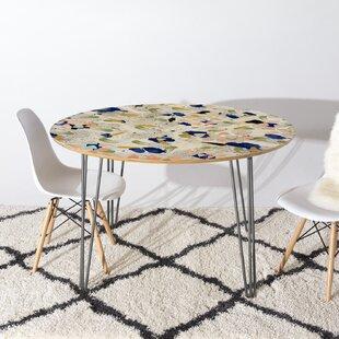 East Urban Home Marta Barragan Camarasa Abstract Marble Dining Table