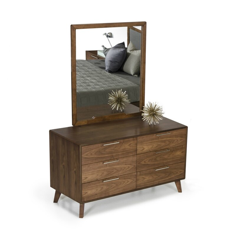 Fine Ronan Rectangular Modern Contemporary Dresser Mirror Short Links Chair Design For Home Short Linksinfo