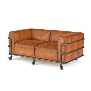 Georgette Leather Loveseat by Trent Austin Design