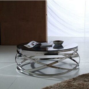 Claycomb Metal and Glass Coffee Table by Orren Ellis