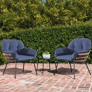 Bungalow Rose Anne 3 Piece Seating Group with Cushion