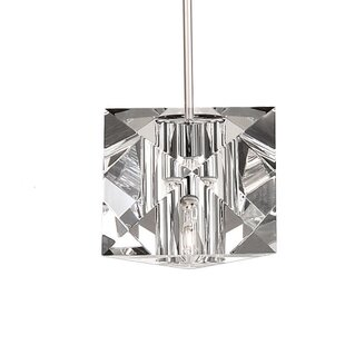 WAC Lighting Crystal Prisma Monopoint 1-Light Mini Pendant