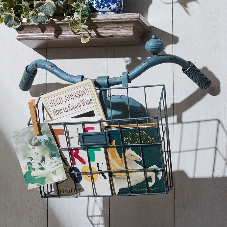 Design Toscano Weather Worn Bicycle Basket Metal Wall Planter Wayfair