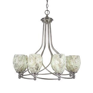 Winston Porter Skypark 8-Light Shaded Chandelier