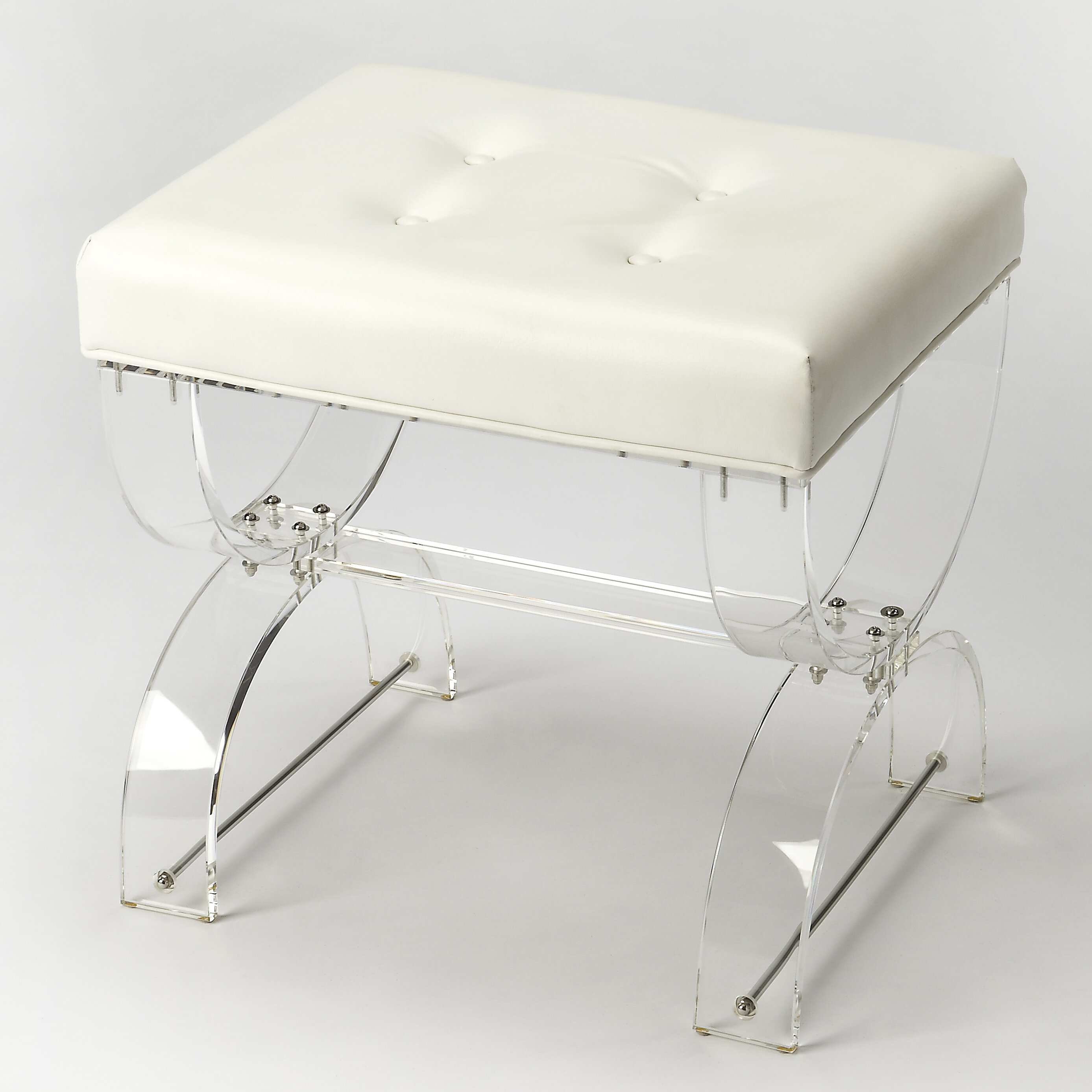 Everly quinn nerissa acrylic vanity stool reviews wayfair