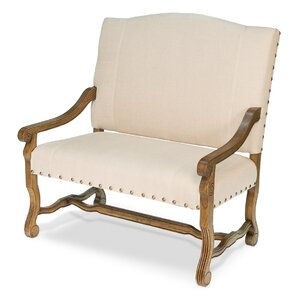 Great Hall Italian Settee Loveseat Sofa by Sarreid Ltd