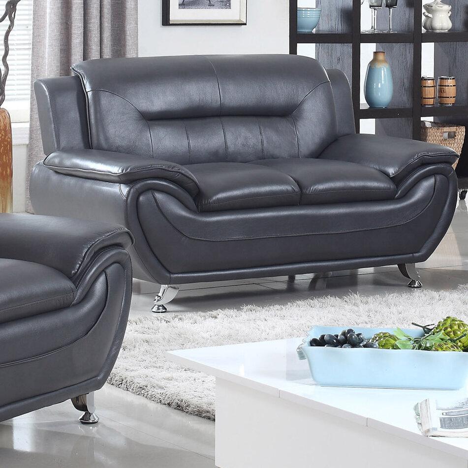 Zipcode design lester modern living room faux loveseat reviews wayfair