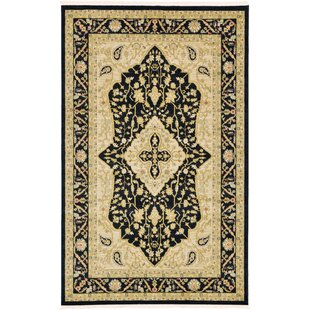 Check Prices Britley Black/Beige Area Rug By World Menagerie