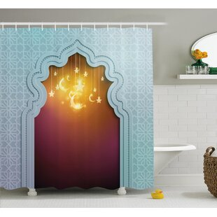 Askham Arabic Signs and Stars Single Shower Curtain