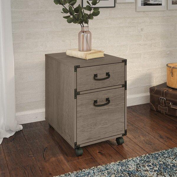 Kathy Ireland Home By Bush Furniture Ironworks 2 Drawer Mobile Vertical Filing Cabinet Reviews Wayfair