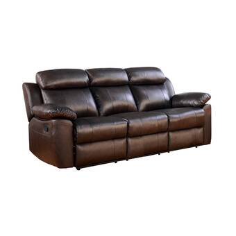 Red Barrel Studio Mellor Leather Reclining Sofa & Reviews | Wayfair