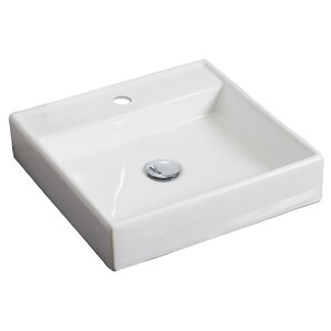 Good Ceramic Square Vessel Bathroom Sink