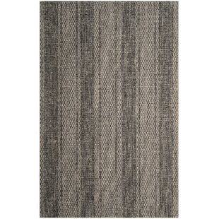 Myers Striped Gray/Black Indoor/Outdoor Area Rug