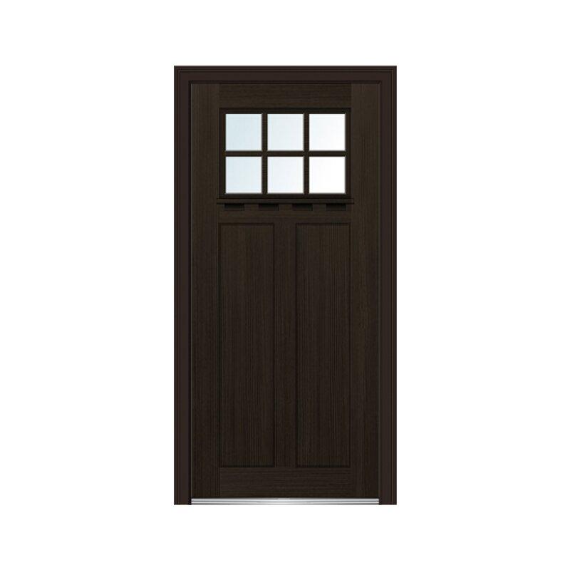Craftsman Shaker 2 Panel Fiberglass Prehung Front Entry Door