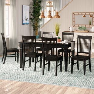Pennington 7 Piece Wood Dining Set by Beachcrest Home Cheap
